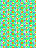 Colored Dots on White Dots Bright Green Royalty Free Stock Images