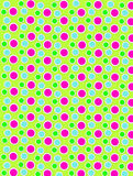 Colored Dots on White Dots Lime Green Royalty Free Stock Photography