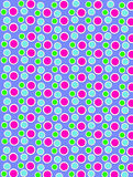 Colored Dots on White Dots Periwinkle Stock Photo