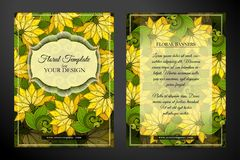 Colored Double-sided Greeting Card Stock Images