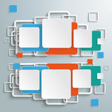 Colored Double Squares Infographic. Infographic with colored squares on the grey background. Eps 10 file vector illustration