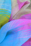 Colored draped fabric Stock Photo
