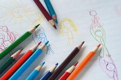 Colored drawing stock images