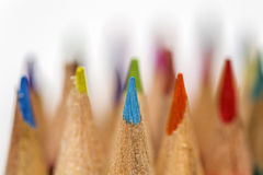 Colored drawing pencils in a variety of colors Stock Photography