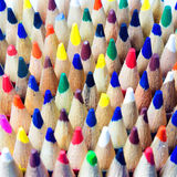 Colored drawing pencils in a variety of colors Stock Image