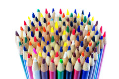 Colored drawing pencils in a variety of colors Stock Photo