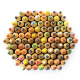 Colored drawing pencils in a variety of colors Royalty Free Stock Photography