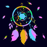 Colored dream catcher in a contemporary style. Vector illustration. Royalty Free Stock Photos