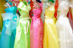 Colored dresses Royalty Free Stock Images