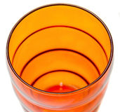 Colored drink glass, close up, isolated, white background Royalty Free Stock Photo