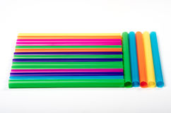 Colored drinking straws. Royalty Free Stock Images