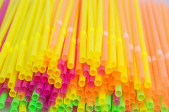 Colored drinking straws Stock Images