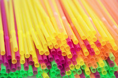 Colored drinking straws background Royalty Free Stock Photo