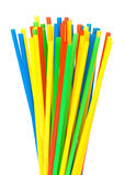 Colored drinking straws Royalty Free Stock Image