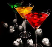 Colored drinks Stock Photography