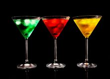 Colored drinks Stock Photo