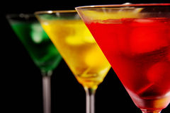 Colored drinks Stock Image