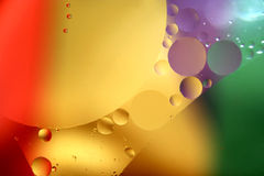 Colored drop. Macro shot of oil in water Royalty Free Stock Image