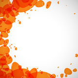 Colored droplets orange Royalty Free Stock Photo