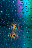 Colored drops Stock Photo