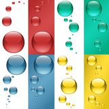 Colored Drops Royalty Free Stock Images