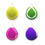 Colored drops. Background with  colored  forms  the  drop Royalty Free Stock Photos