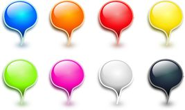 Colored drops buttons Royalty Free Stock Image