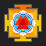 Colored Durga yantra illustration Royalty Free Stock Image