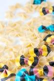 Colored durum wheat semilina pasta royalty free stock images
