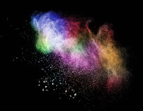 Colored dust cloud explosion Royalty Free Stock Images