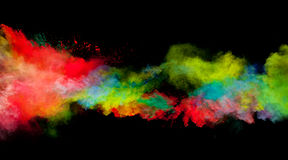 Colored dust stock image