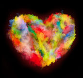 Colored dust heart Stock Image