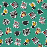 Colored e-education pattern. Royalty Free Stock Photography