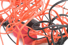 Colored ear phones Stock Photography