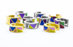 Colored earrings Stock Image