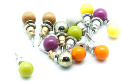 Colored earrings Stock Photo
