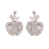 Colored earrings on white Royalty Free Stock Image