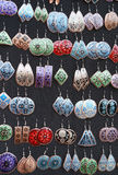 Colored earrings for women Royalty Free Stock Image