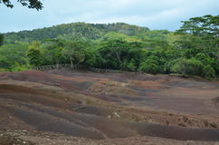 Colored Earths 3. Colored Earths near Chamarel town, Mauritius Stock Photography