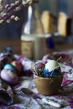 Colored Easter breakfast with me royalty free stock photos