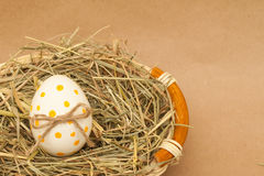Colored easter egg with bowknot Stock Photo