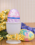 Colored Easter Egg in a Cup Stock Photos