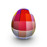 Colored easter egg on white background - 3d Stock Images