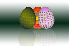 Colored easter eggs Stock Image