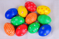 Colored Easter Eggs Stock Photos
