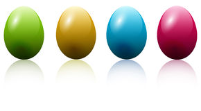 Colored easter eggs Royalty Free Stock Images
