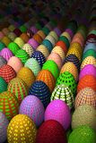 Colored easter eggs. 3d illustration; very detailed textures; raytracing Royalty Free Stock Photos