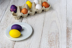 Colored easter eggs Stock Images