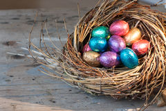 Colored easter eggs Stock Photography