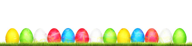 Colored easter eggs 3d render. Illustration Stock Photography